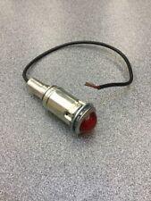 OLD VINTAGE DASH PANEL INSTRUMENT GAUGE AMBER FACETED LIGHT RAT ROD SCTA GASSER