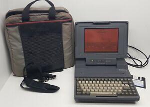 Toshiba-T3100e-Portable-Computer-Plasma-Screen-Boots-from-Floppy-Bag-Super-NICE