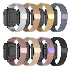 Para     Smartwatch Correa Pulsera StainlessSteel Meshed Watchband Strap 18mm