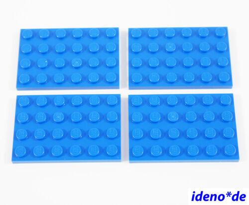 LEGO Basic City Bau Creator 4 Stk. Platte 4 x 6 blau 303223 blue 3032 NEU
