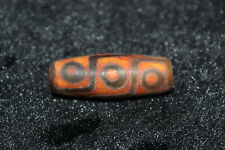 tibetan prayer worry dzi bead old agate 9 eyes amulet gzi antique tibet R65
