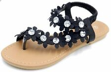 07cbbcd66126 item 5 Women s New Gladiator Rhinestone Flower T-Strap Flat Sandal Thong  Shoes Sz 5-10 -Women s New Gladiator Rhinestone Flower T-Strap Flat Sandal  Thong ...