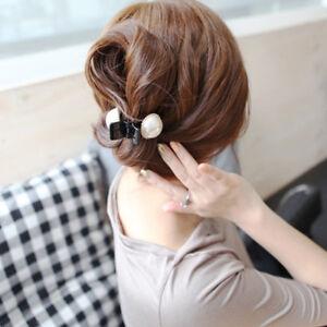 Black-Women-Plastic-Hairpins-Hair-Accessories-Hair-Claws-Big-Pearl-Clips