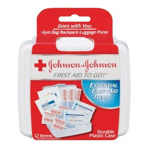 3 Pack Johnson & Johnson To Go First Aid Kit, 12 Ct