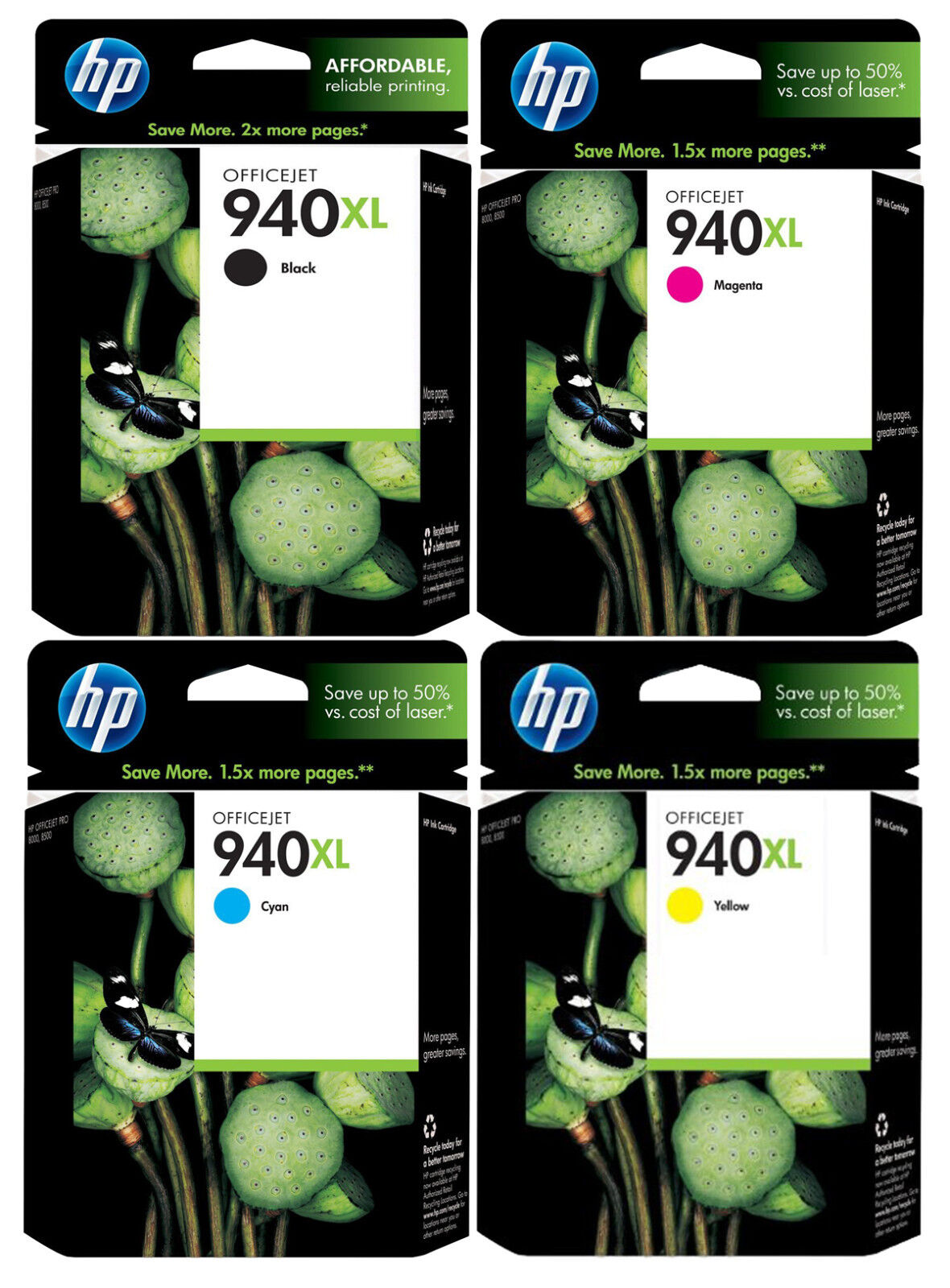 genuine new hp 940xl ink cartridge 4 pack ebay. Black Bedroom Furniture Sets. Home Design Ideas