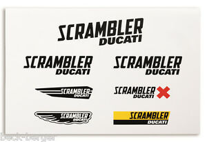 Ducati pointés main logos autocollants Sticker Set Neuf!!!