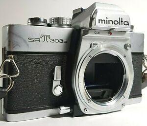 Minolta-SRT-303b-35mm-SLR-Filmkamera-Vintage-UK-Schnelle-Post