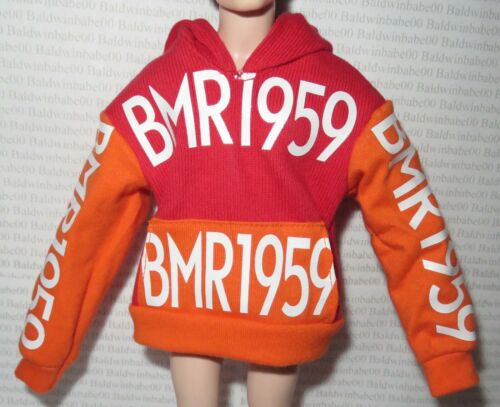 KEN TOP ~ MADE TO MOVE BMR1959 RED ORANGE HOODIE SWEATSHIRT LOGO ACCESSORY