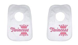Lätzchen & Spucktücher Logisch Twincess Personalisiert Weich Baumwolle Doppel Backwards Unisex Zahlreich In Vielfalt Ernährung