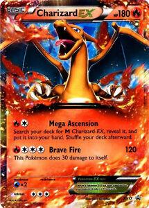 Pokemon XY Charizard XY17 EX Holo Normal/Regular Size Promo Card ...