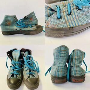 CONVERSE-All-Star-Upper-High-Top-Shoes-Plaid-Men-Sz-5-Women-Sz-7