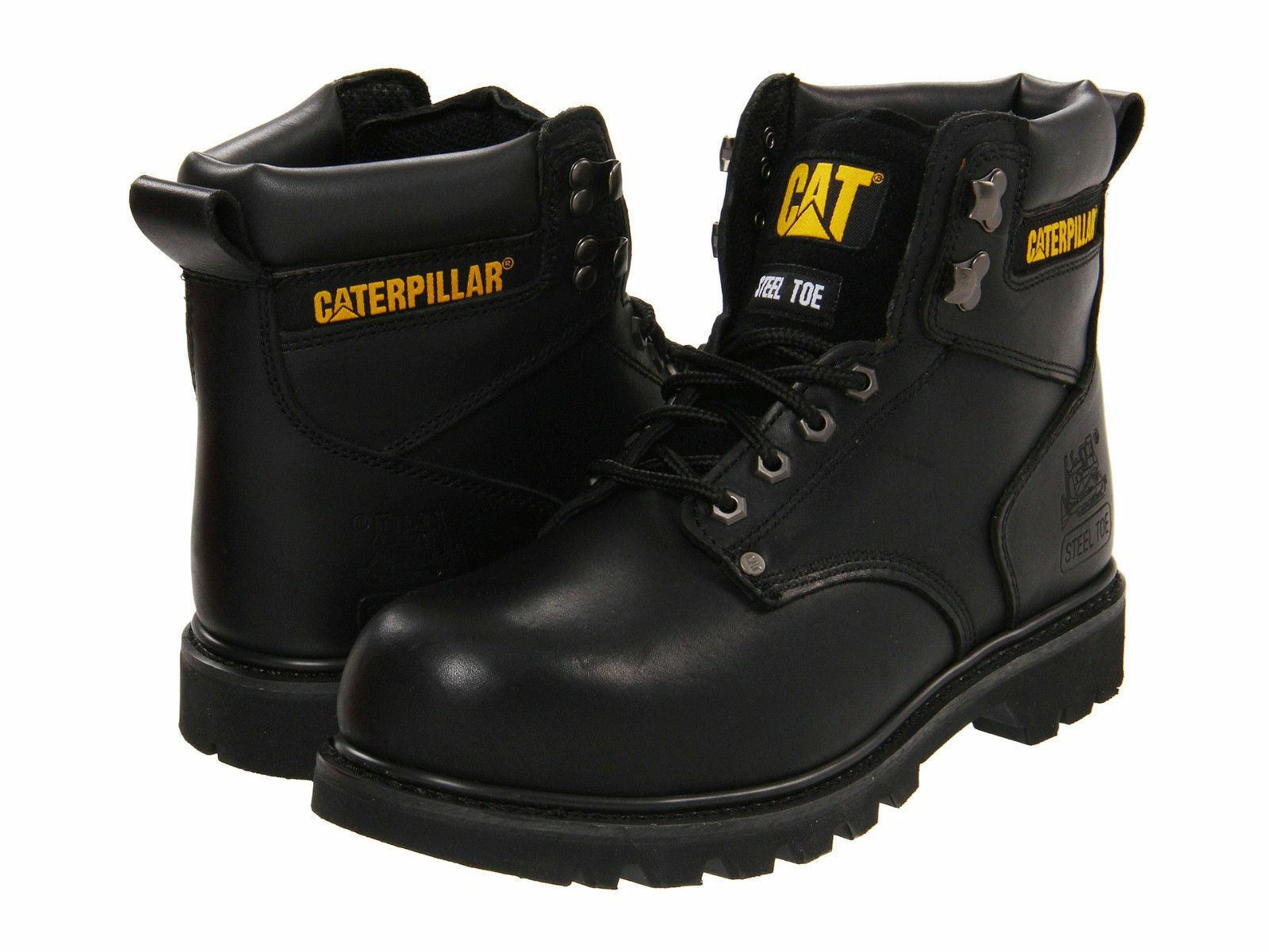 Men Caterpillar Second Shift Steel Toe Work Boot P89135 Black 100% Authentic New