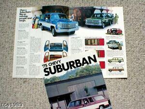 1975 Chevy Suburban Broschüre/katalog Mit Farbe Chart C10,4wd,4x4 Fein Verarbeitet