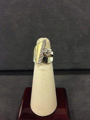 Beautiful Vintage  14K Elegant Diamond Cocktail Ring