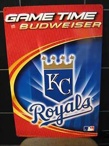 Kansas City Royals Original Mlb Metal Budweiser Beer Sign