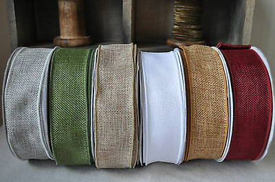 Elegant and Rustic Faux Burlap Jute Ribbon Wedding Gift Wrapping Card Making