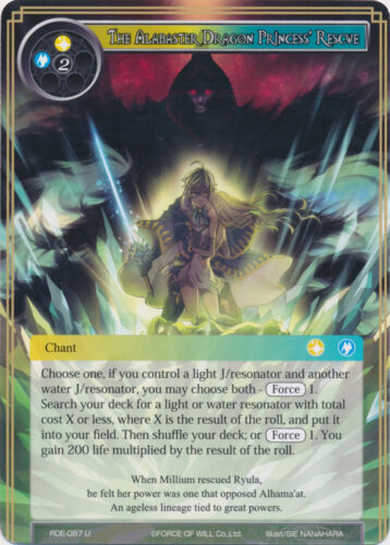 Uncommon-RDE-087-NM 4X The Alabaster Dragon Princess/' Rescue FoW Return of the