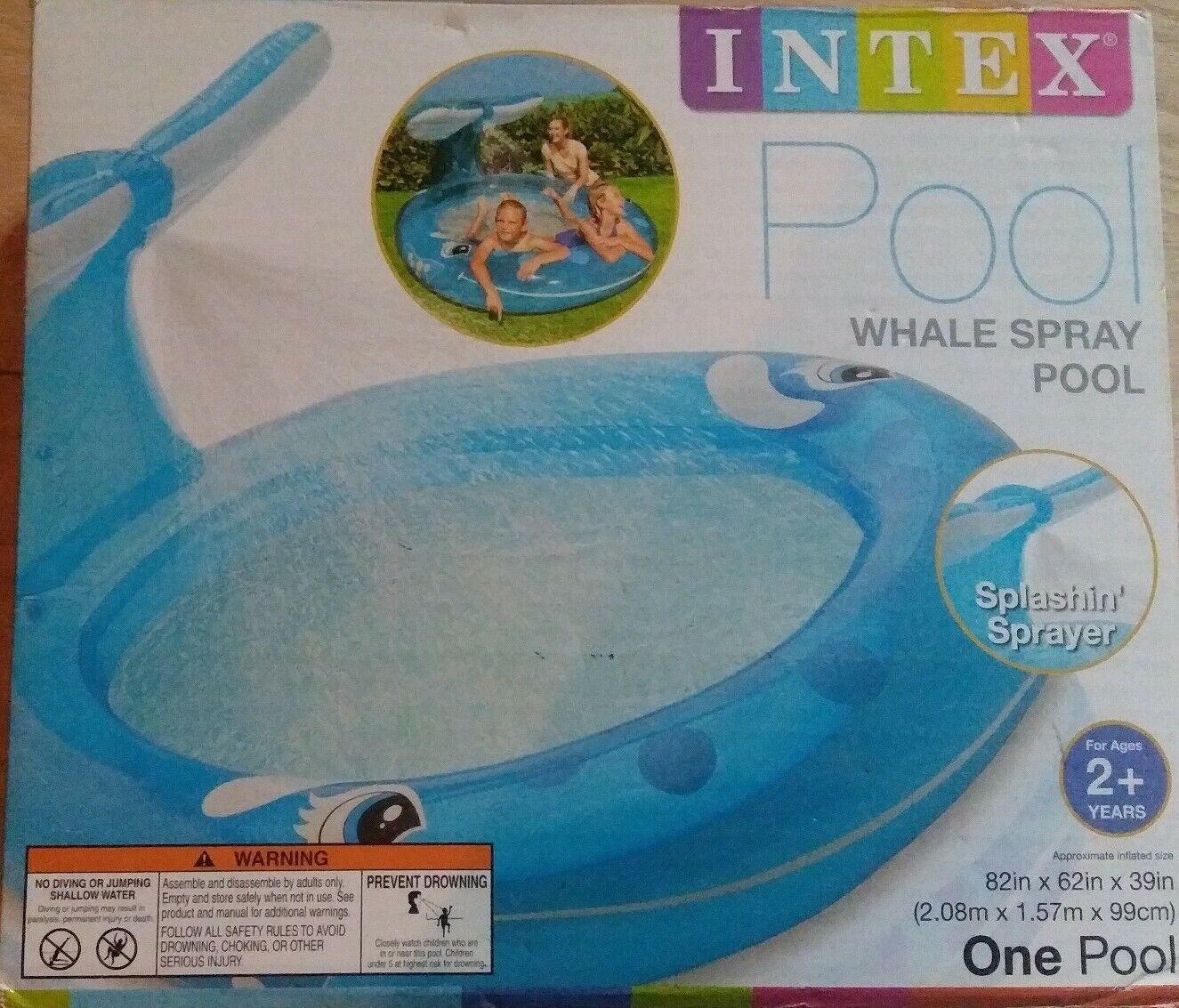 INTEX RECREATION Whale Spray Pool 82in x 62in x 39in (2.08m x 1.57m x 99cm) 2+