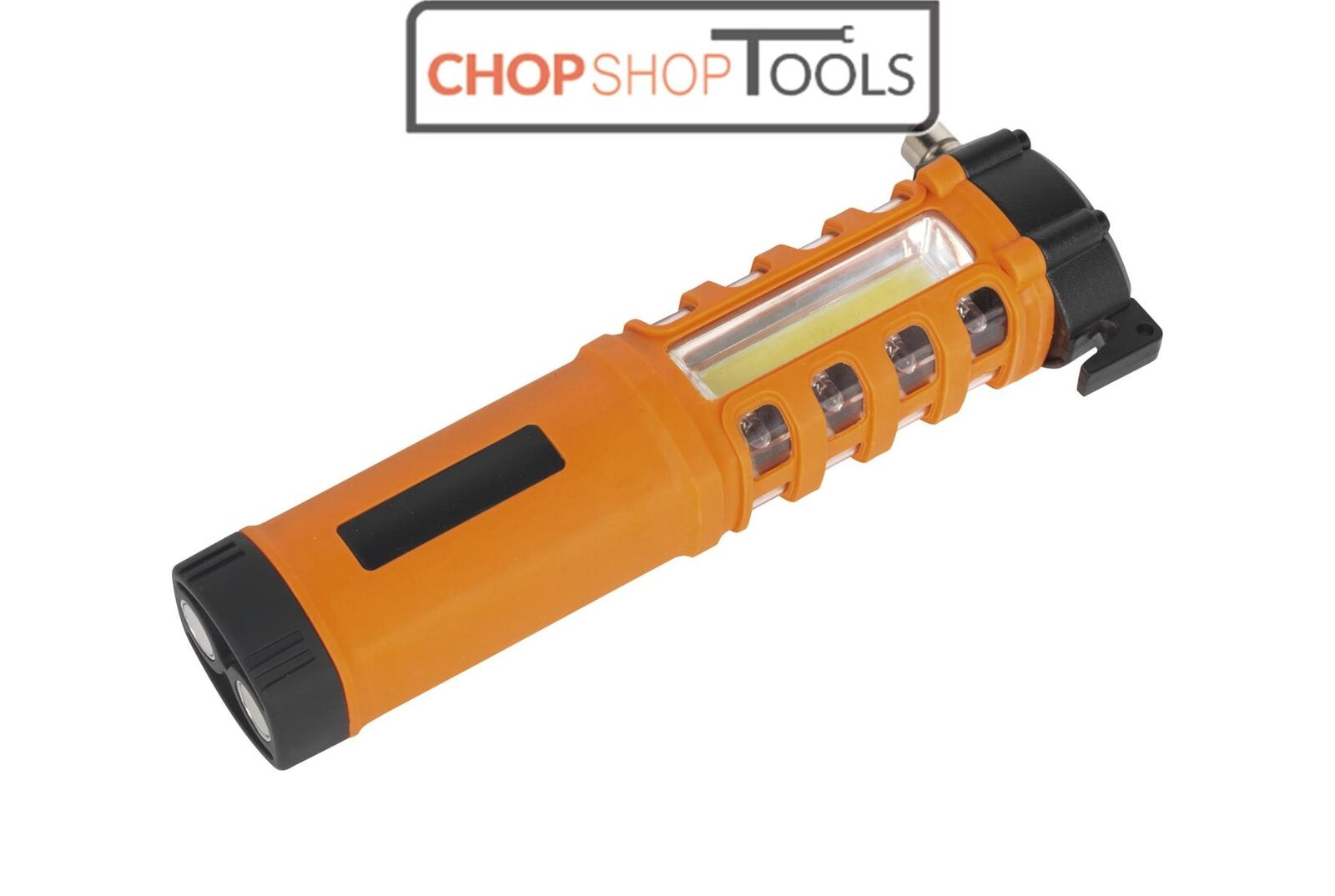 Sealey LED059 Emergency Torch Belt Cutter Hammer - 2W COB + 16 Red LED + 1W LED