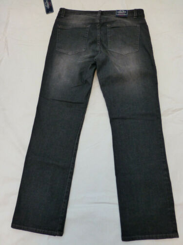 NWT WOMENS CHAPS DENIM SLIMMING FIT MADDEN STRAIGHT JEANS $69 GRAY