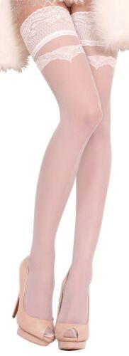 weiss-silber 20 DEN Ballerina Halterlose Strümpfe