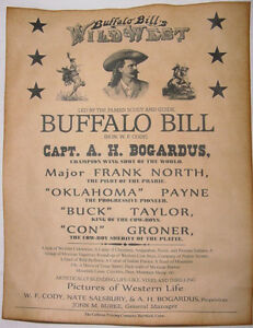Image is loading Buffalo-Bill-Cody-Wild-West-Show-Poster-old- 4c540b45b4ba