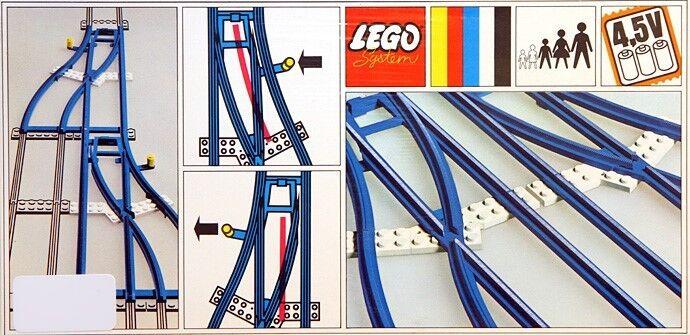 Nuevo Interruptor De 154 trenes LEGO 4.5v de la pista 1 izquierda 1 derecho Sellado Raro 1967'