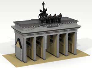 Lego Personalizado Edificio. puerta de Brandemburgo en Berlín (Alemania) Arco de Triunfo