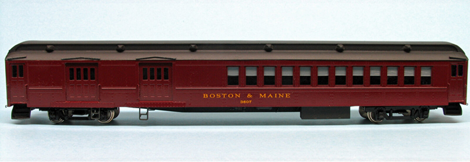 BOSTON & MAINE BAGGAGE - SMOKER 3600-3607 HO Model Railroad Unpainted Kit BC223