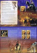 BRD 2012: Friedrich der Große Erinnerungsblatt mit Viererblock der Nr. 2906 1704