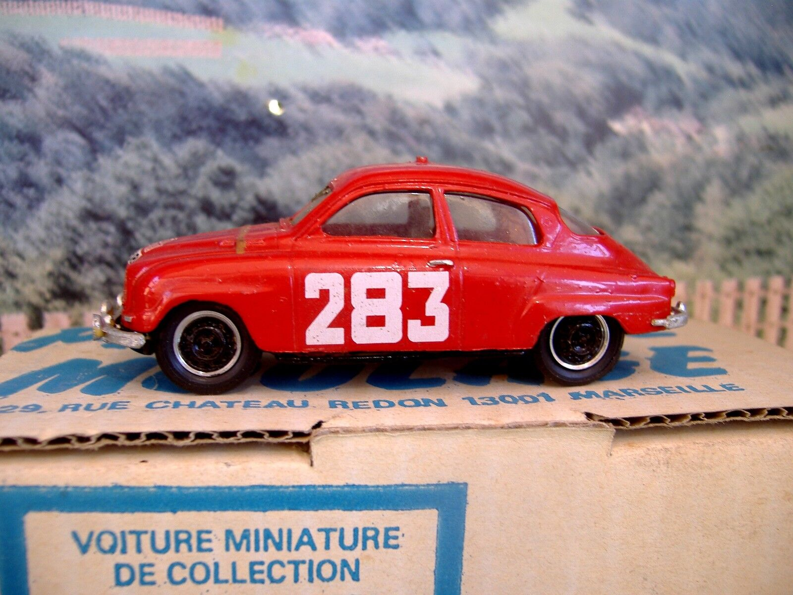 1 43 Provence Moulage Moulage Moulage (Francia) Saab 96 Montecarlo 1963 Hecho A Mano Resina coche modelo 1c9040