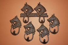 Item 7 (5)pcs, COUNTRY WESTERN KITCHEN DECOR, HORSE WALL HOOK, CAST IRON  RUSTIC W 60,8  (5)pcs, COUNTRY WESTERN KITCHEN DECOR, HORSE WALL HOOK, ...