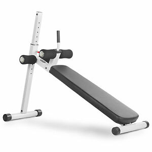 Xmark Fitness Adjustable Abdominal Slantboard Situp Ab Bench Xm 4416 1 White Ebay