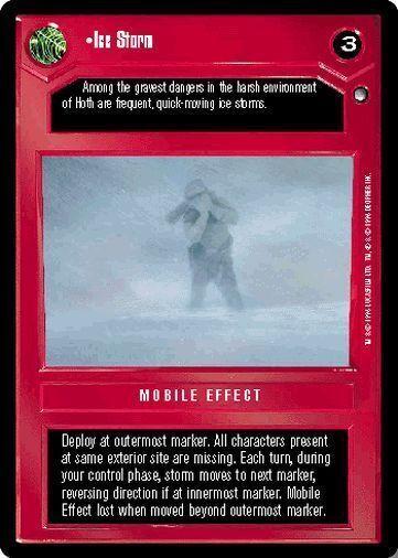 Star Wars CCG Hoth Black Border Ice Storm Dark Side