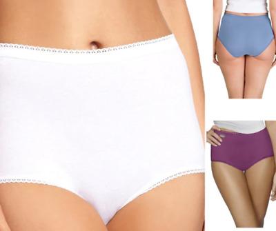 Playtex Cherish 3pk Cotton Maxi Brief in Black Nude or White M-7XL P00BQ