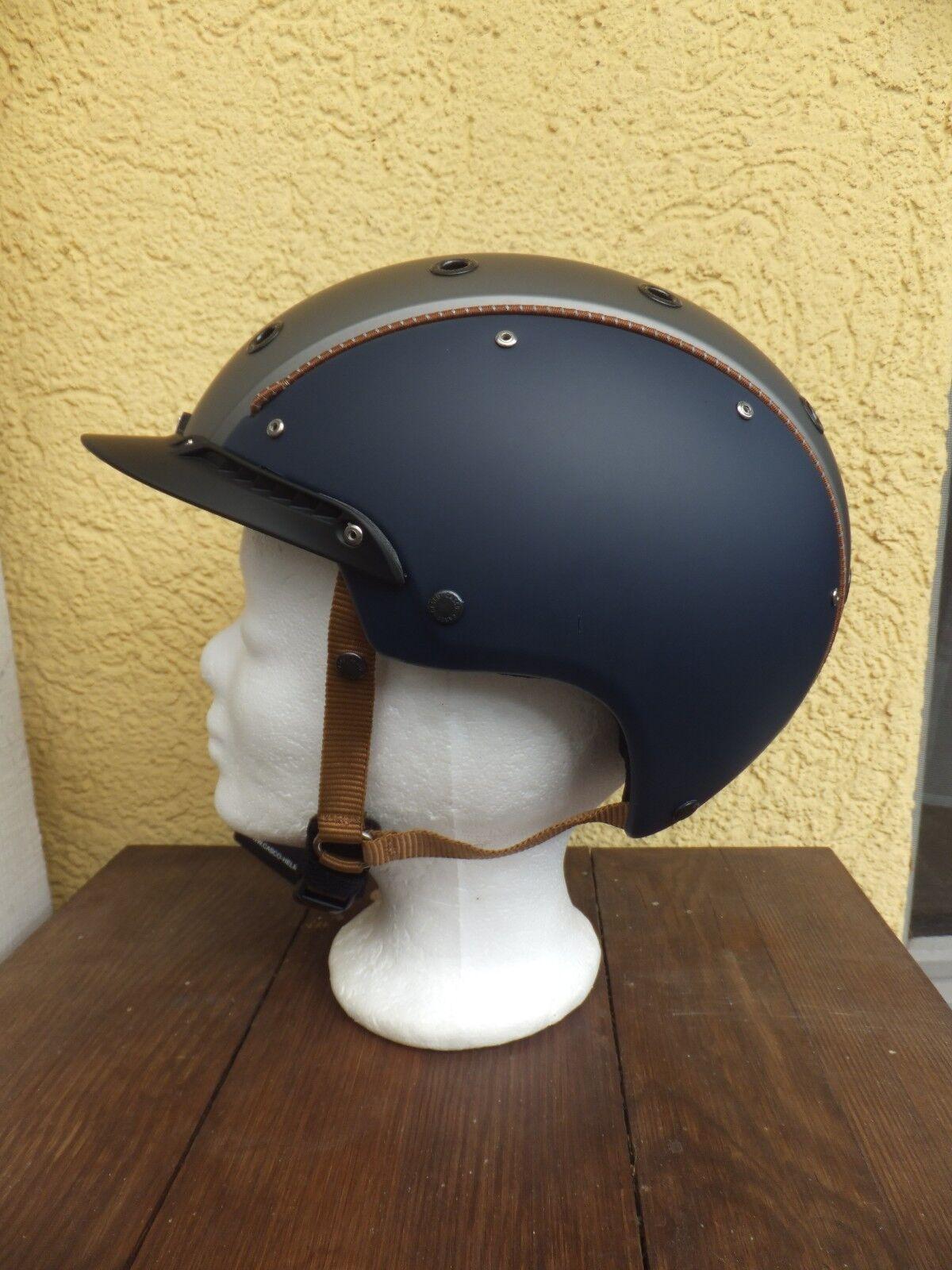 neuer  CASCO CHAMP 3 blau silber Reithelm neues Modell mit my style