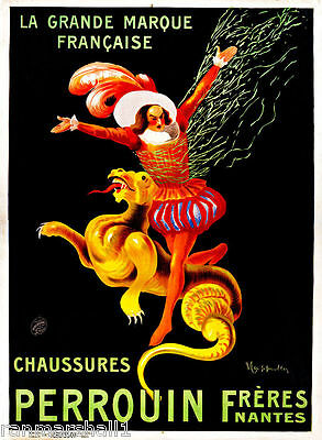 1900/'s Chaussures Perrouin Wine France French Cognac Advertisement Art Poster