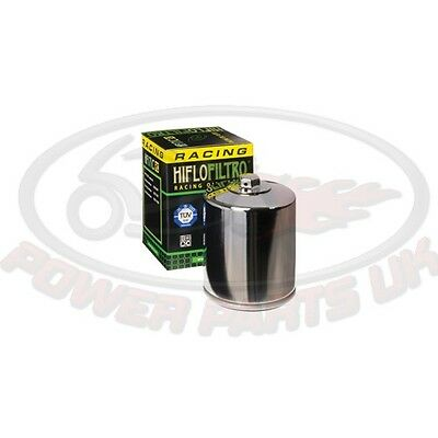 HIFLO CHROME OIL FILTER FITS HARLEY DAVIDSON FXDL DYNA LOW RIDER 1999-2005