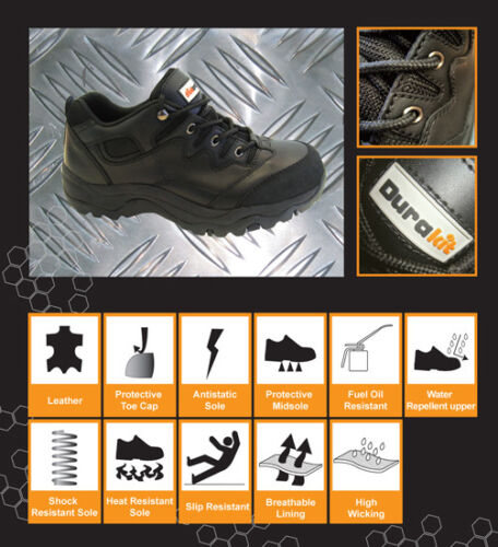 Durakit Black Safety Trainers