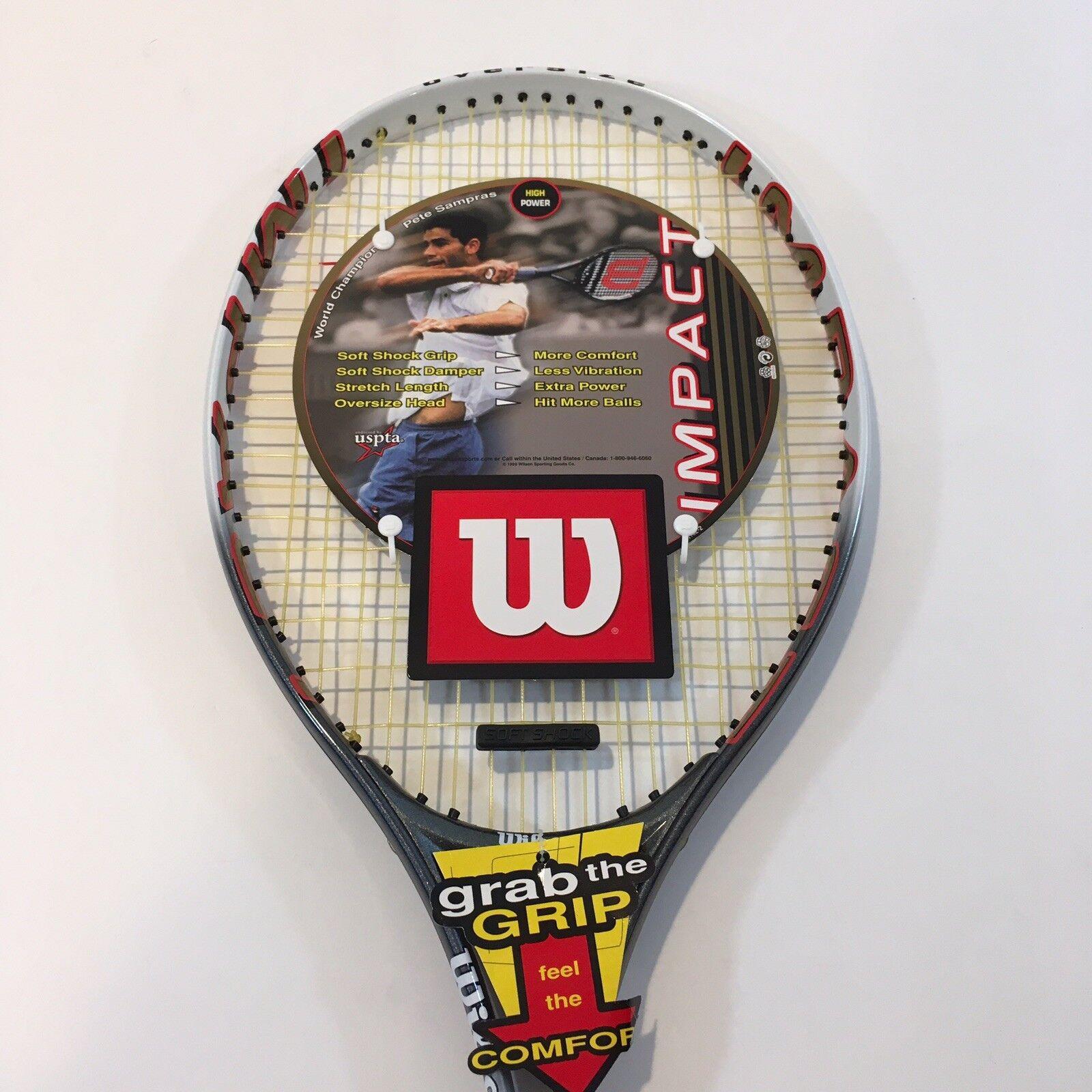 Wilson 110 Stretch Raquette de tennis 4 3 8 L3 OverTaille Impact Soft choc sampras