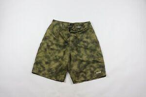 Vintage-90s-Tommy-Hilfiger-Mens-Medium-Acid-Wash-Spell-Out-Swimming-Board-Shorts