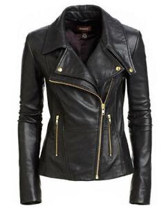 Slim Femmes Noir Nouvelles Moto Style V En Veste Motard fqvWSgWxwz