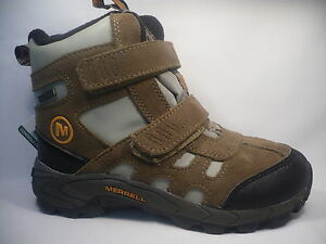 Kid-039-s-Merrell-winter-boots-shoes-Brown-size-uk-12-19-cm