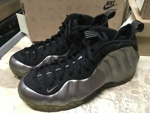 on sale a6eea aad73 Image is loading USED-MENS-NIKE-AIR-FOAMPOSITE-ONE-PEWTER-SILVER-