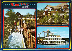 Heide-Park-Soltau-Lower-Saxony-Germany-Water-Slide-Postcard