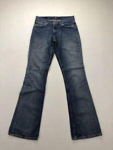 Levi-039-s-529-Bootcut-Jeans-w29-l36-Faded-Navy-Super-Zustand-Damen