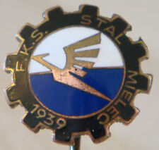 FKS STAL MIELEC Vintage Club crest type badge Stick pin fitting 16mm x 16mm