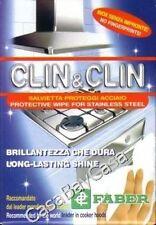 - FABER SALVIETTE CLIN & CLIN  PROTEZIONE PULIZIA ACCIAIO INOX 1 PACCHETTO
