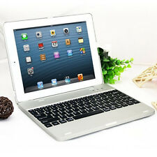 """For iPad 2 3 4 9.7"""" Wireless Bluetooth Keyboard Stand Case Cover With Power Bank"""