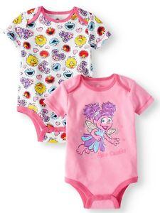 00296ec33bb6 Sesame Street Abby Cadabby One Piece Bodysuit Infant Baby Girl Size ...